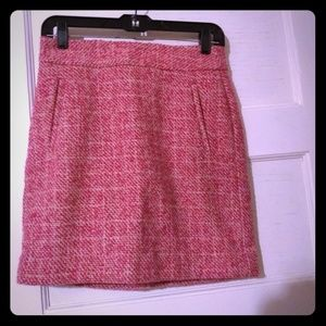 "Banana Republic ""parrot pink"" lined mini skirt"